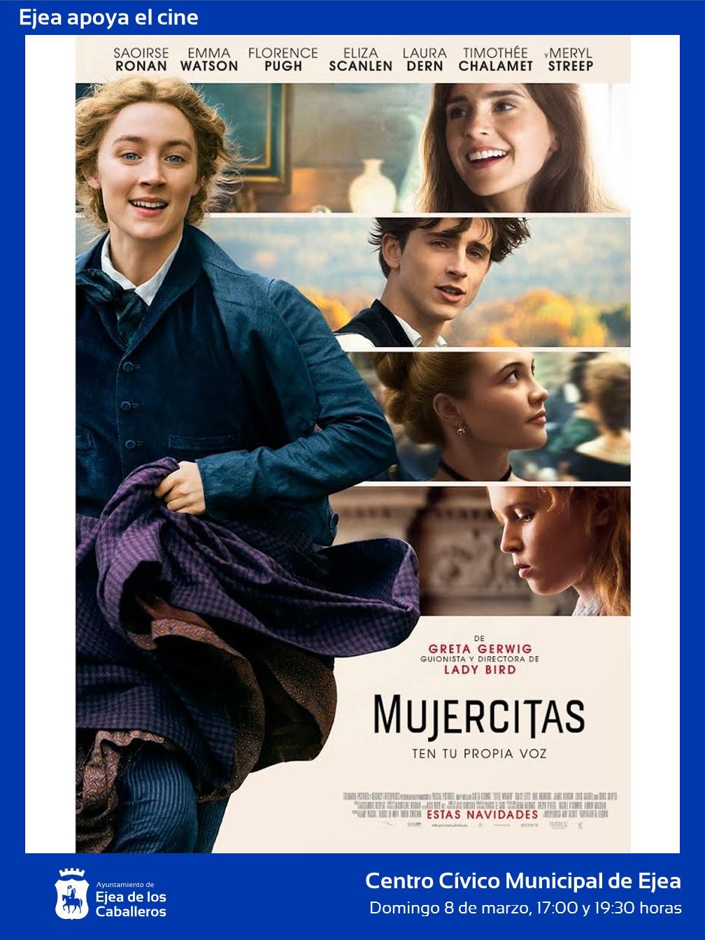 """Ejea apoya al cine: Proyección de """"Mujercitas"""", moderna y renovada versión de un clásico de la literatura"""