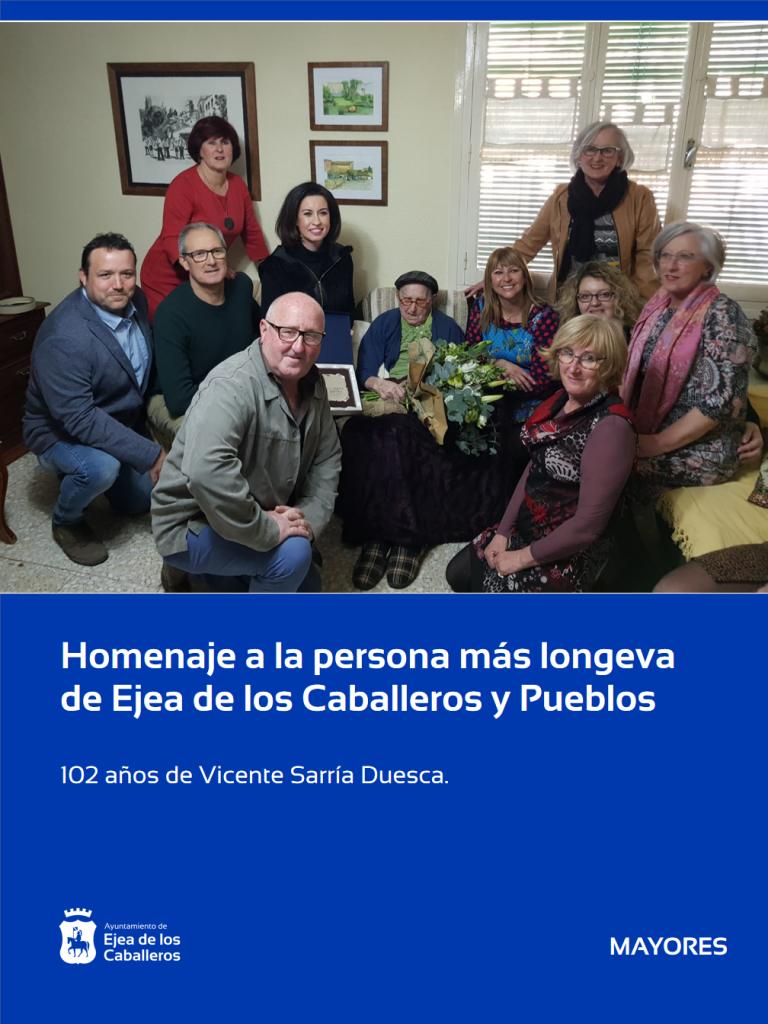 102 años de Vicente Duesca Sarría