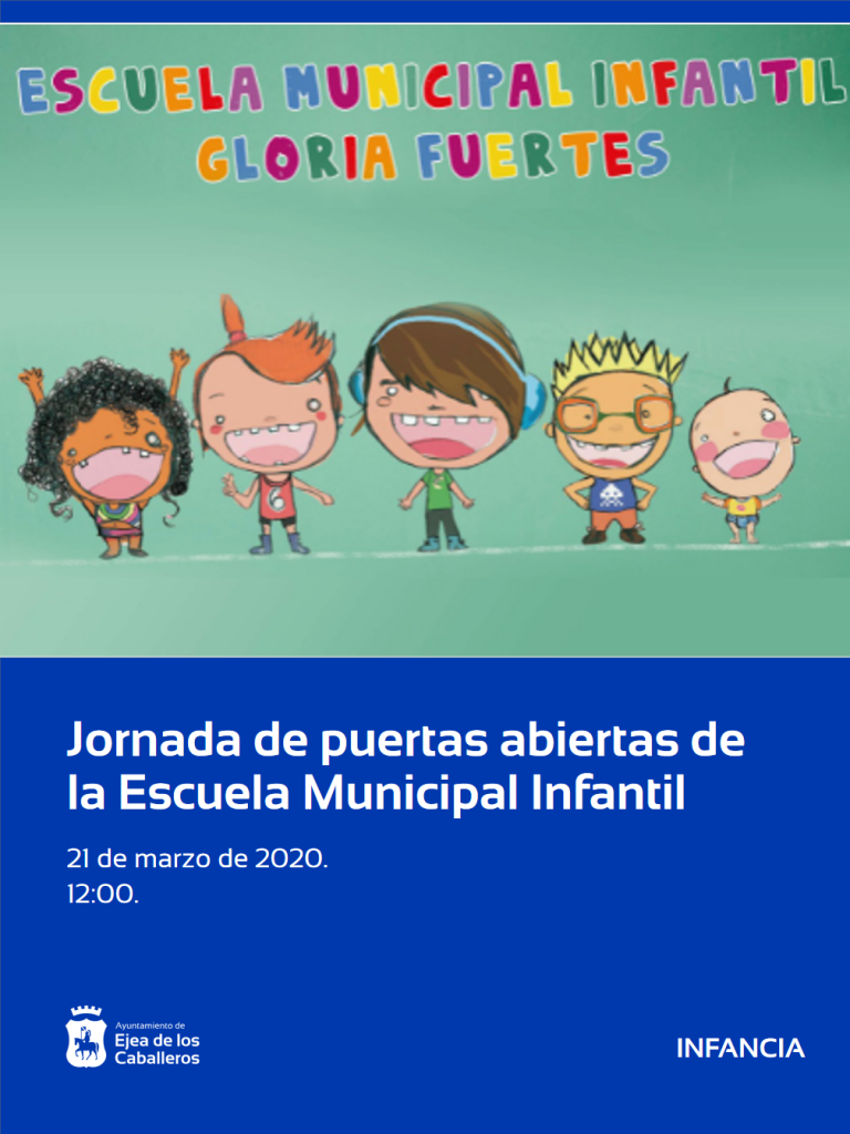 Próxima apertura de plazo para el curso 2020-21 en la Escuela Municipal de Educación Infantil «Gloria Fuertes»