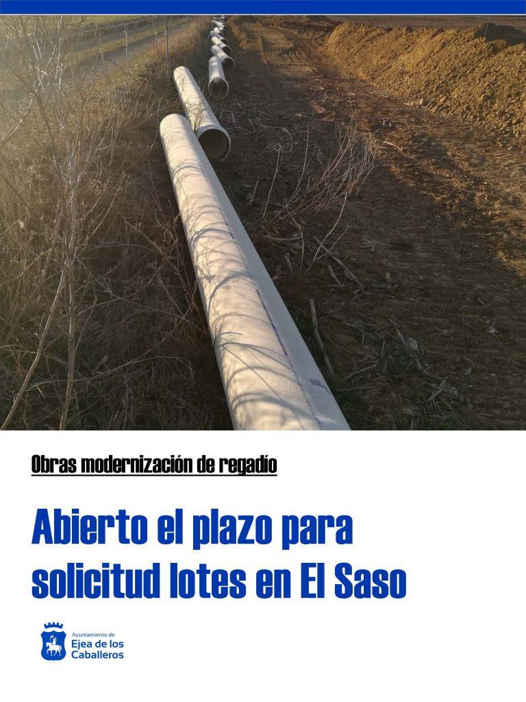 Abierto el plazo de solicitud de lotes en los Sectores XXX y XXXI de El Saso