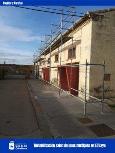 En marcha las obras de rehabilitación del salón multiusos en El Bayo