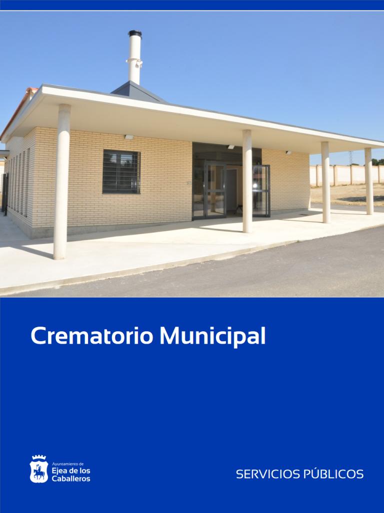 Operativo en nuevo servicio del Crematorio Municipal en Ejea de los Caballeros