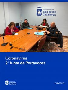 La Junta de Portavoces del Ayuntamiento de Ejea de los Caballeros se reúne por segunda vez para analizar la crisis del COVID-19