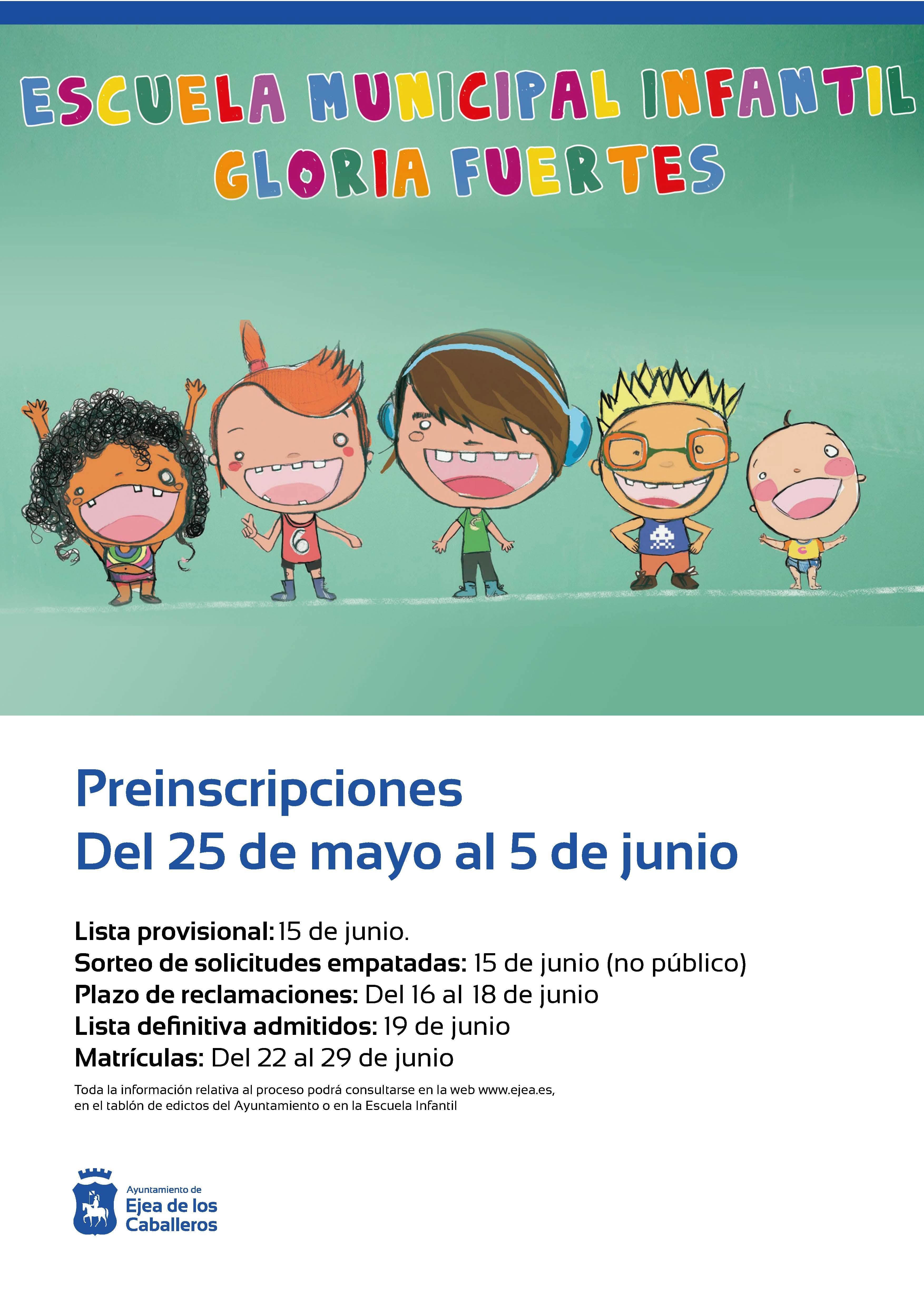"""Apertura de los plazos para solicitar plaza en la Escuela Municipal de Educación Infantil """"Gloria Fuertes"""""""