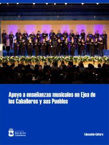 Apoyo estable del Ayuntamiento de Ejea de los Caballeros a enseñanzas musicales