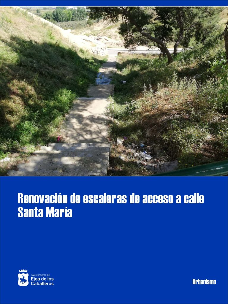 Se renovarán las escaleras y aceras de acceso a la calle Santa María en el Casco Antiguo de Ejea de los Caballeros
