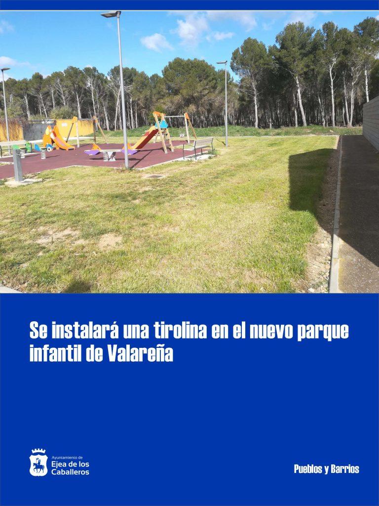 Instalación de una tirolina y mejoras en edificios municipales en Valareña