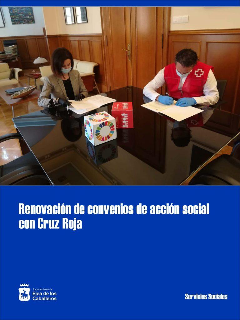 Cruz Roja y Ayuntamiento de Ejea de los Caballeros suscriben varios convenios en materia de acción social