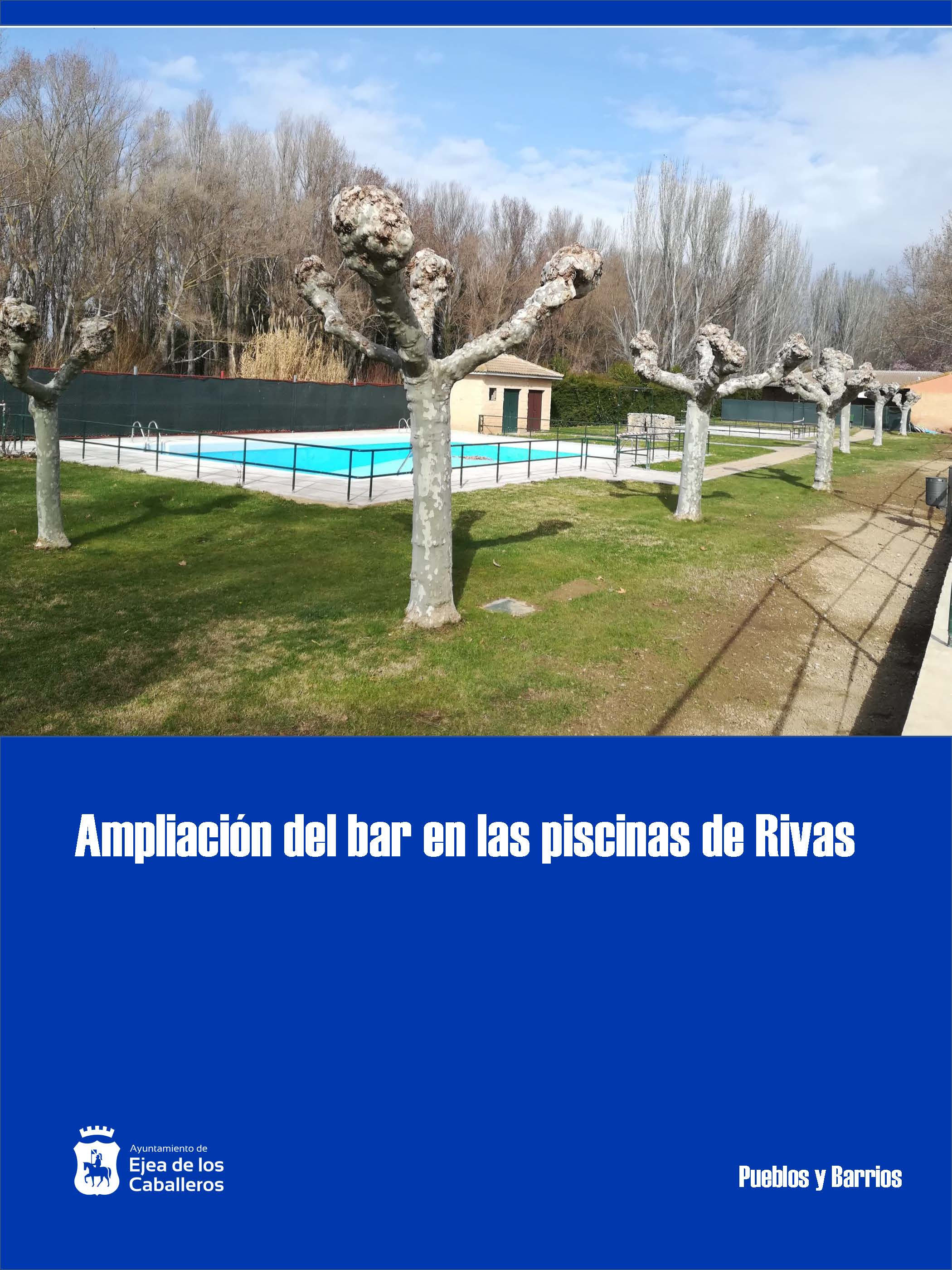 En marcha la I Fase de las obras de ampliación del bar de las piscinas de Rivas