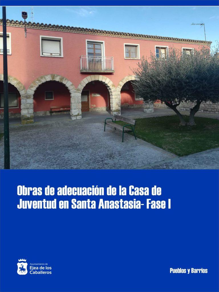 Adjudicadas las obras de la primera fase para la rehabilitación de la Casa de Juventud de Santa Anastasia