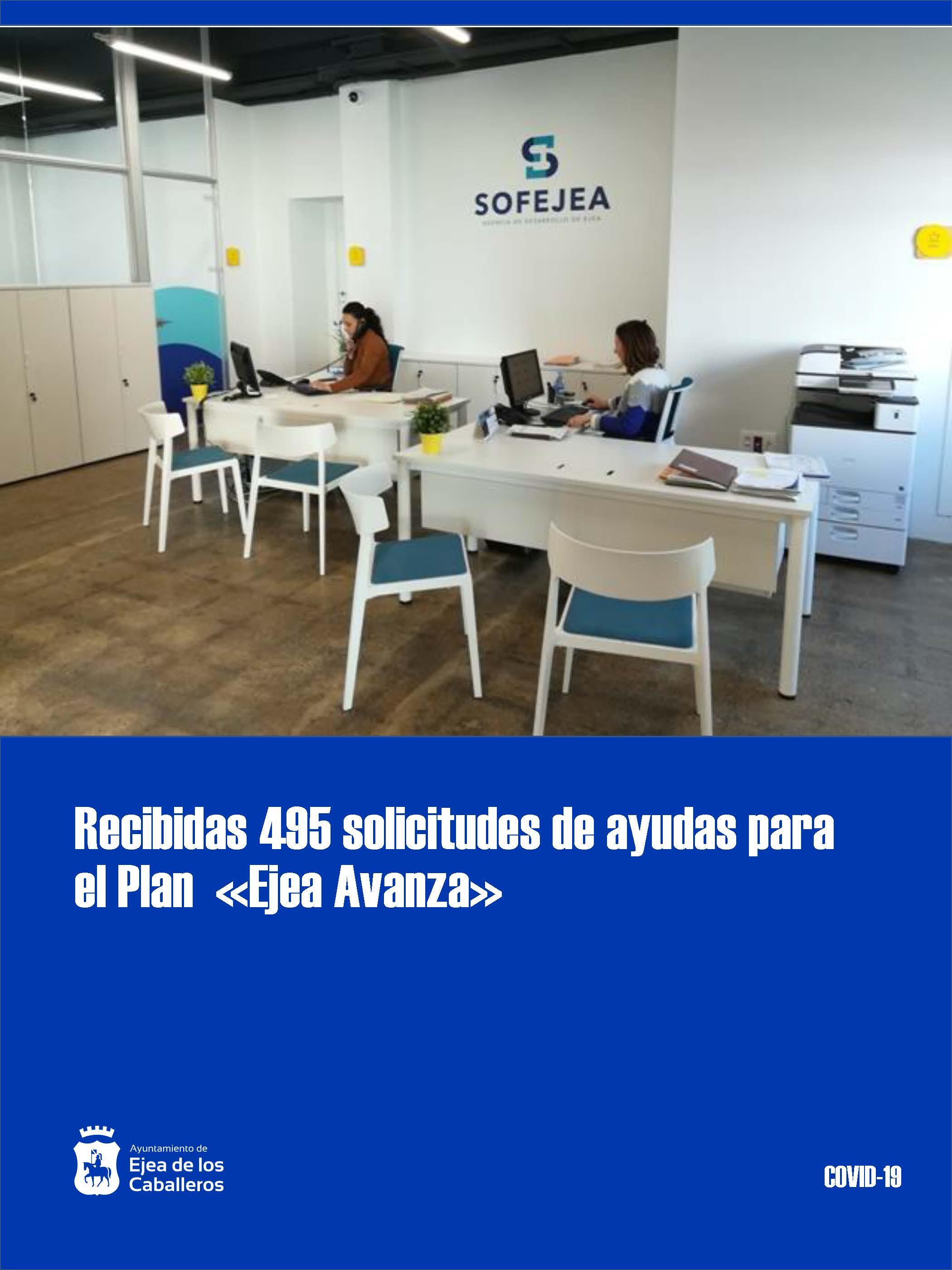 Recibidas 495 solicitudes de ayudas dentro del Plan «Ejea Avanza» dirigidas a autónomos y micropymes