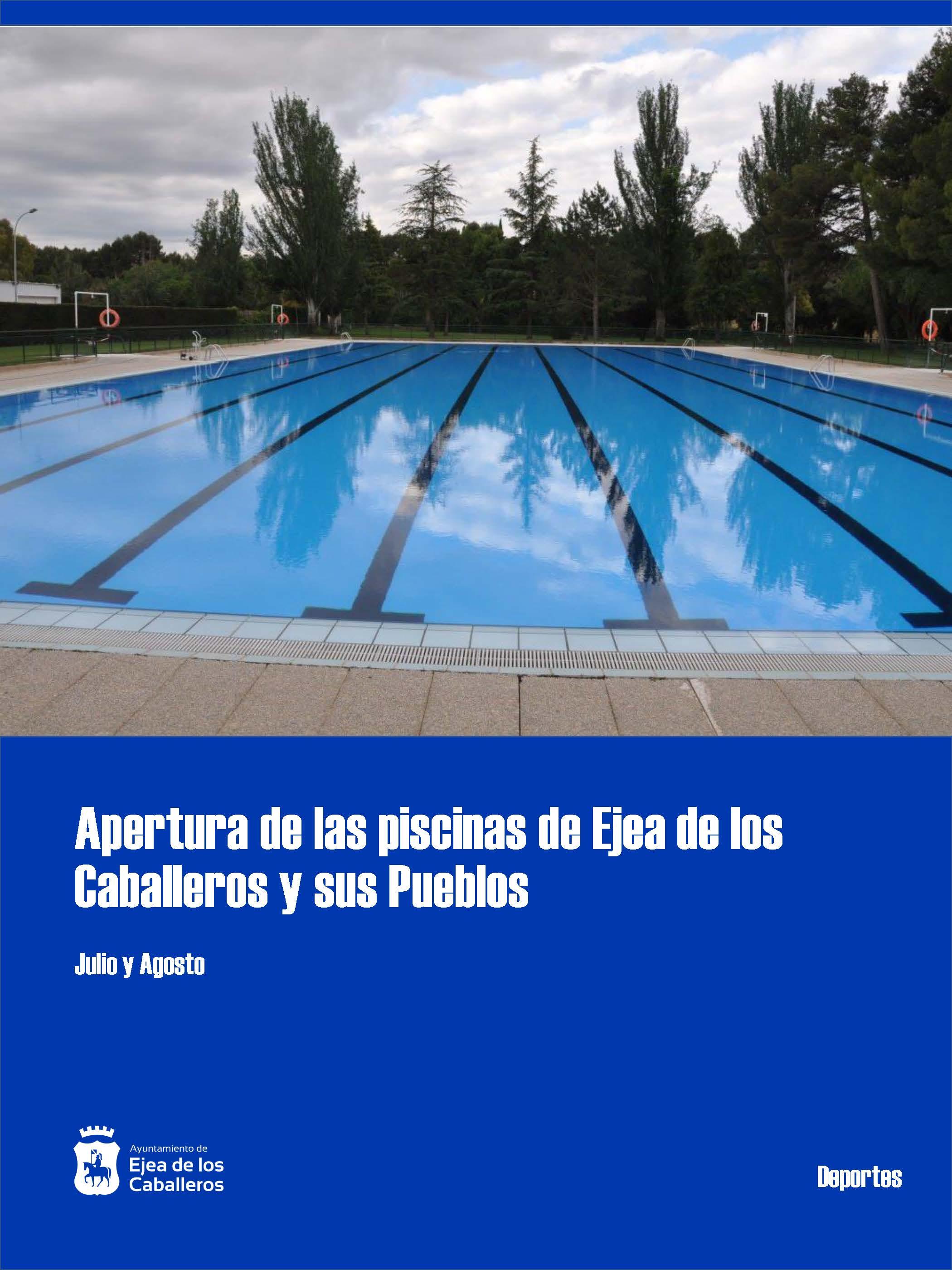 2.671 personas disfrutarán de las piscinas municipales de Ejea de los Caballeros y sus Pueblos con medidas especiales frente a la COVID-19
