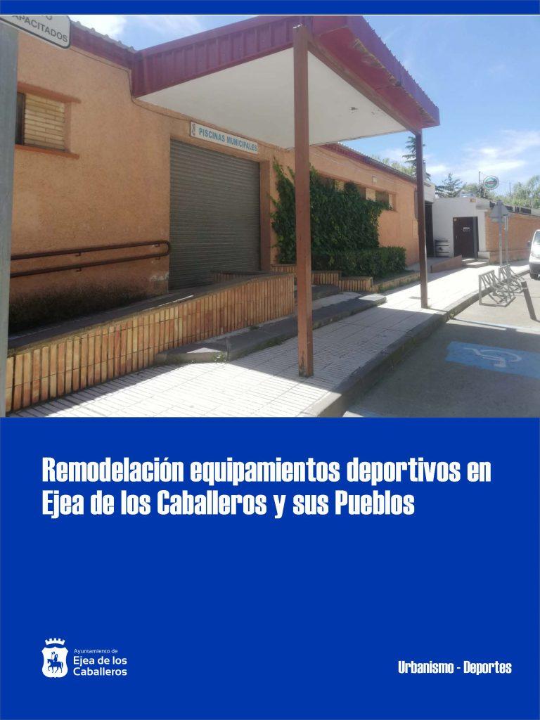 Remodelación de equipamientos deportivos en Ejea de los Caballeros y sus Pueblos