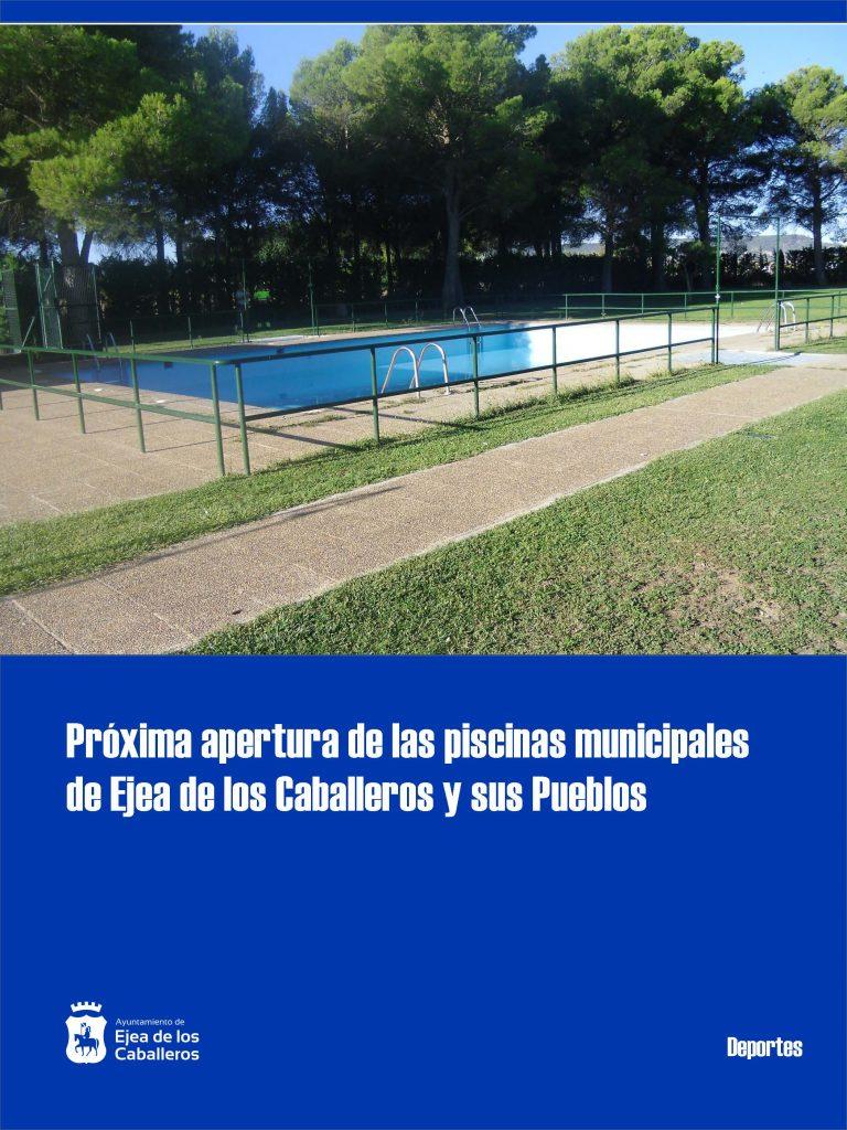 Se abren las piscinas de Ejea de los Caballeros y sus Pueblos los meses de julio y agosto