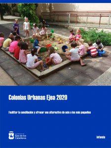 Colonias Urbanas Ejea 2020 para facilitar la conciliación y ofrecer una alternativa de ocio a los más pequeños
