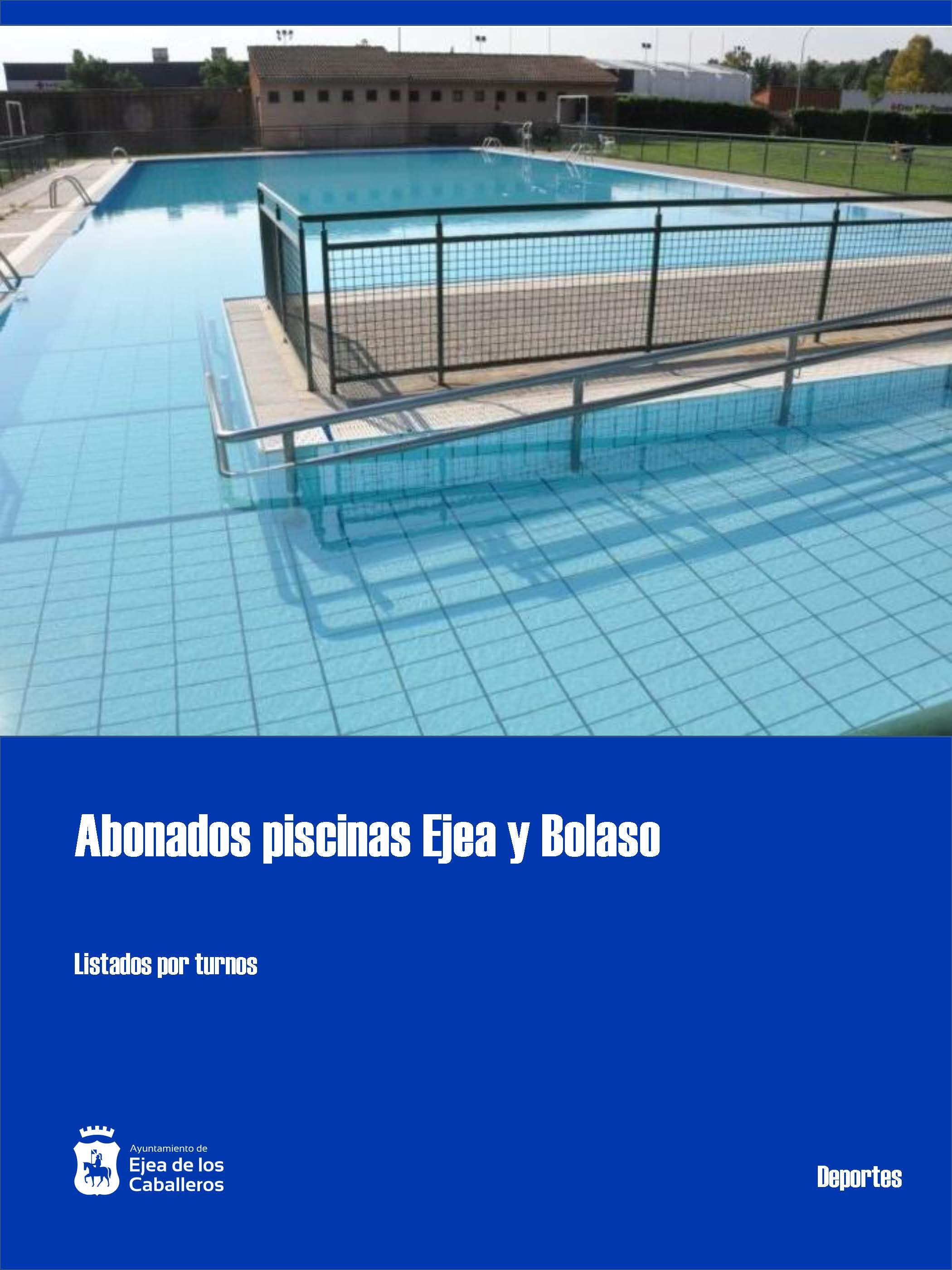 Abonados piscinas Ejea y Bolaso 2020