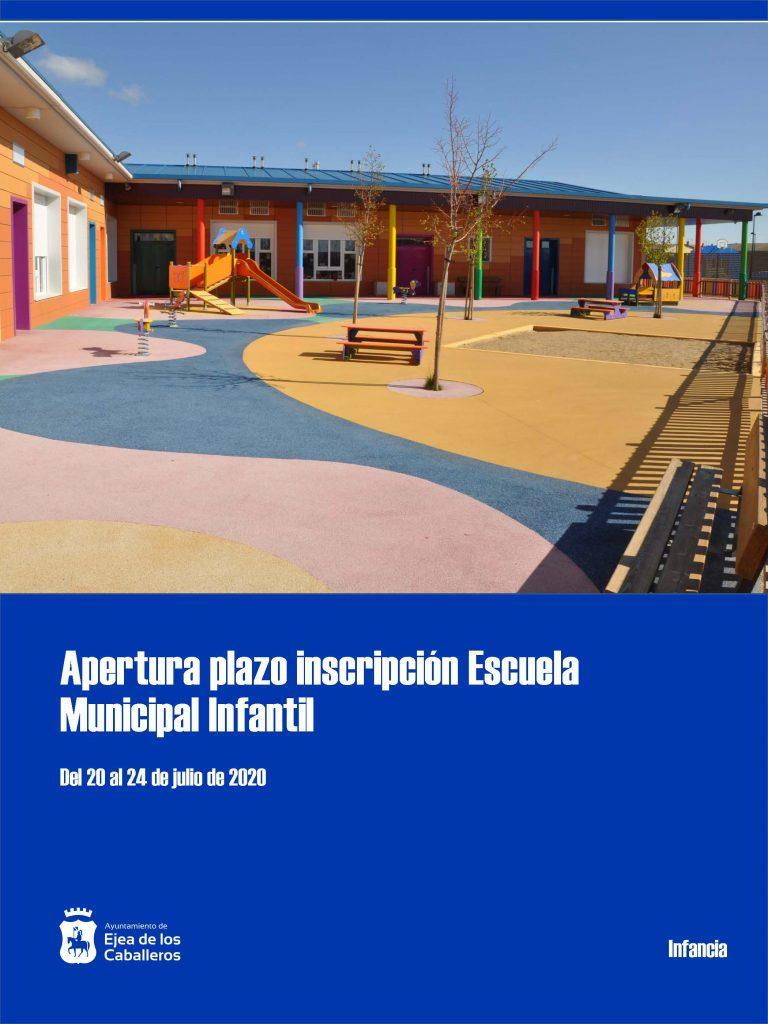 Apertura plazo matrícula alumnos Escuela Municipal Infantil