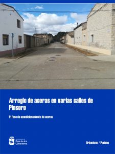 Adjudicada la 9ª fase de las obras de adecuación de aceras en Pinsoro