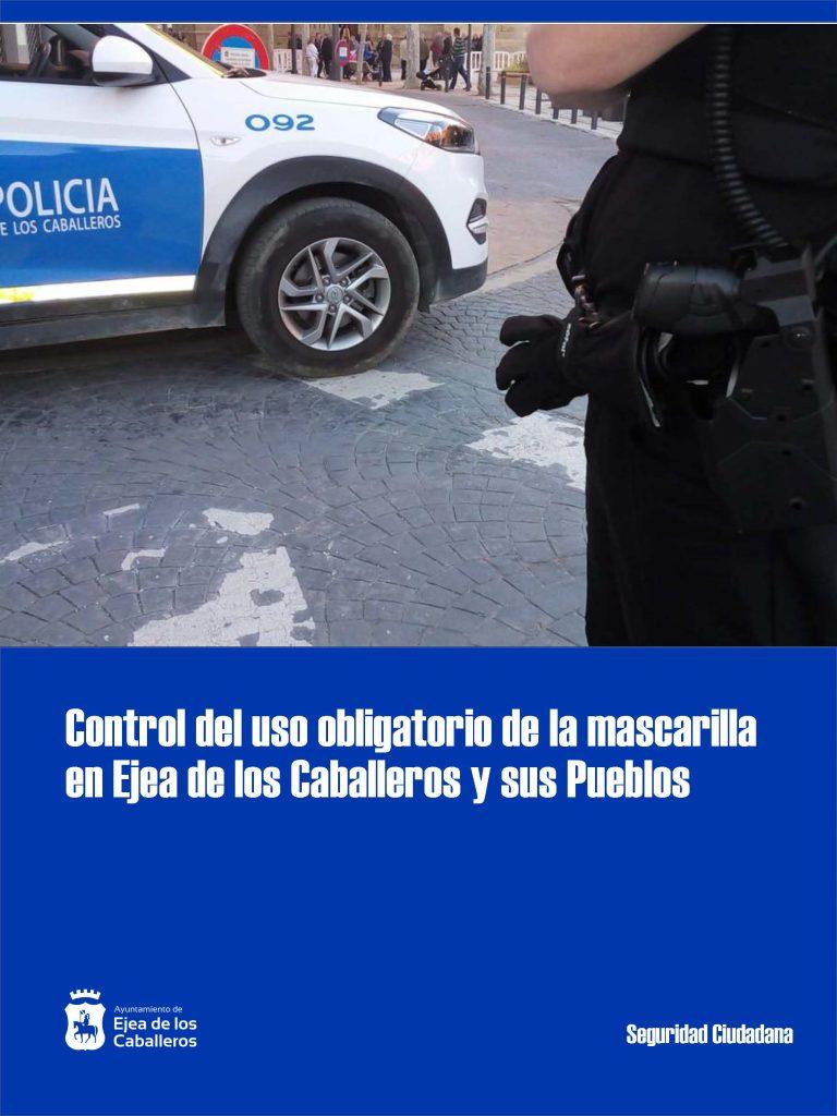 Más de 30 multas por incumplir el uso obligatorio de la mascarilla en el municipio ejeano