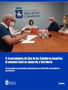 El Ayuntamiento de Ejea de los Caballeros incentiva el consumo local en comercio y hostelería con 100.000 euros