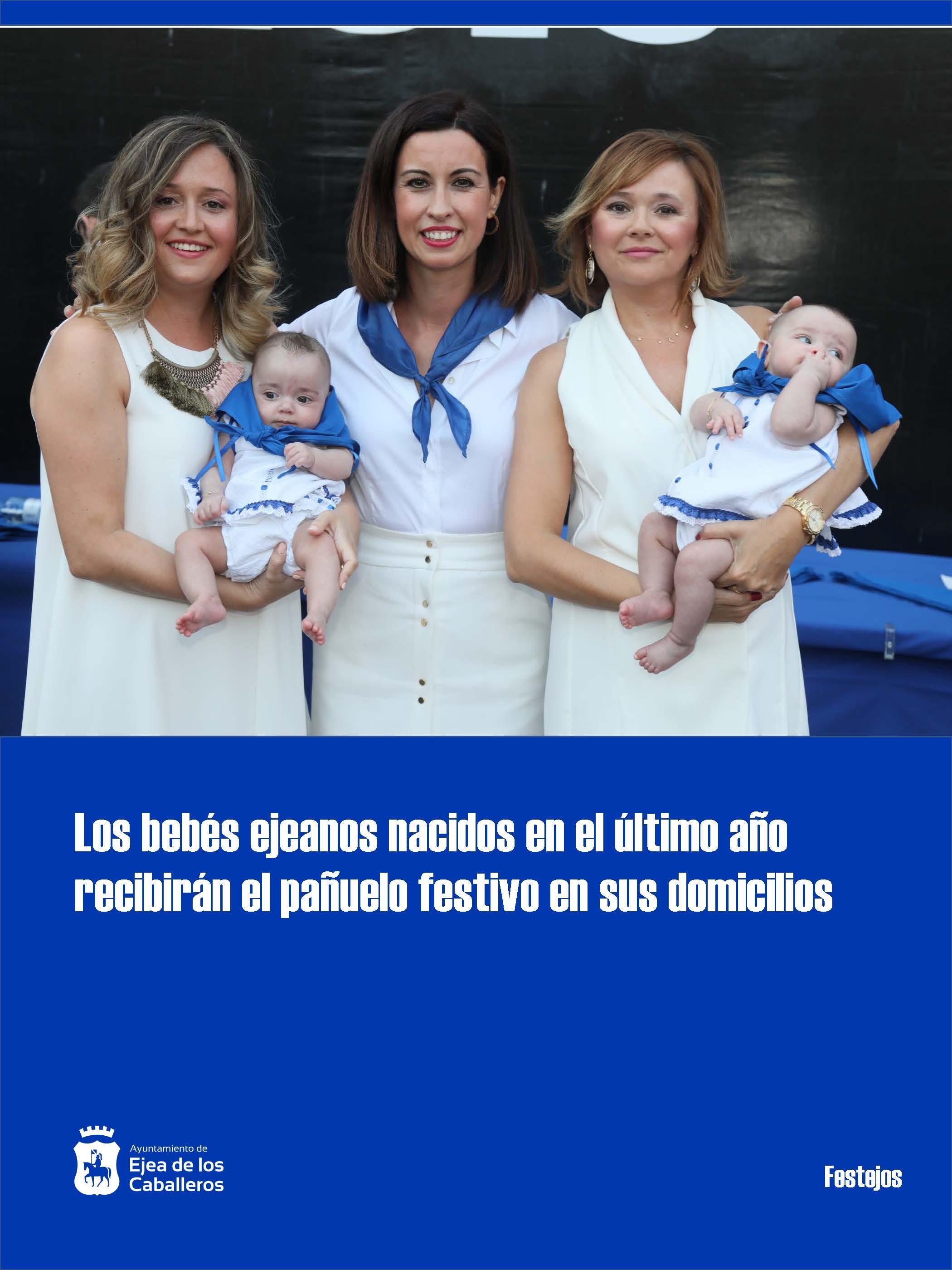 Entrega del pañuelo festivo a los bebés ejeanos nacidos en el último año