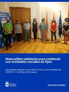 Mascarillas solidarias para colaborar con las entidades sociales de Ejea de los Caballeros