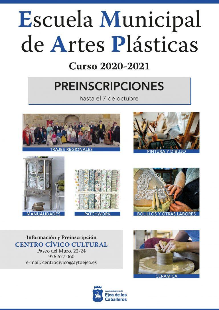 Escuela Municipal de Artes Plásticas y Artesanías: Apertura del plazo de preinscripciones para el curso 2020-21