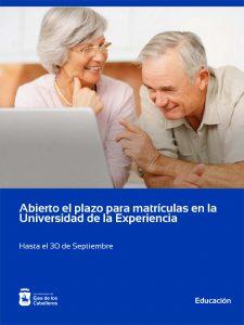 Periodo de matrícula de la Universidad de la Experiencia, que impartirá sus clases online durante el curso 2020-2021