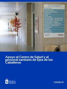 Apoyo total al Centro de Salud y al personal sanitario de Ejea de los Caballeros
