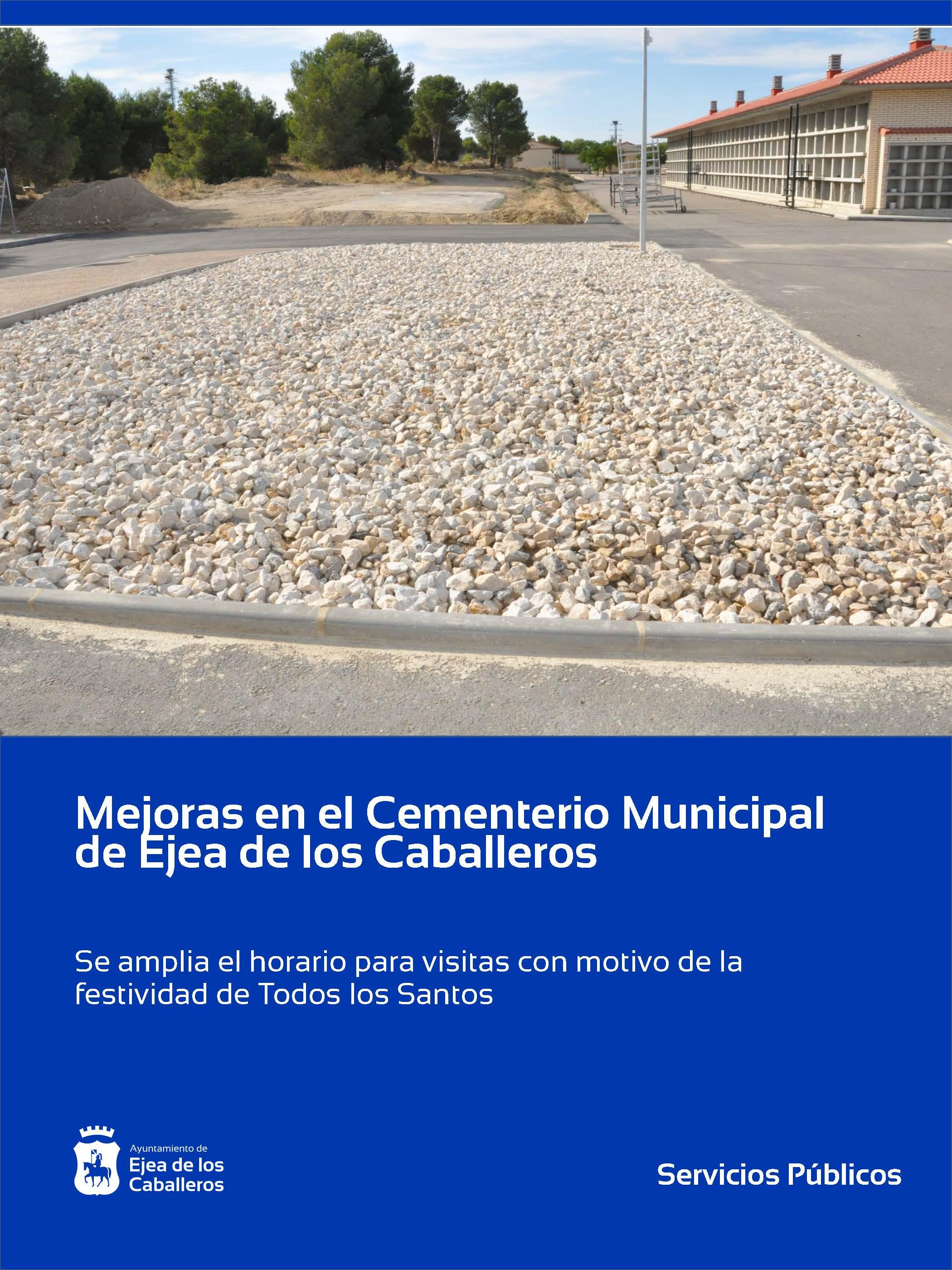 Finalizadas varias obras de mejora en el cementerio municipal de Ejea de los Caballeros