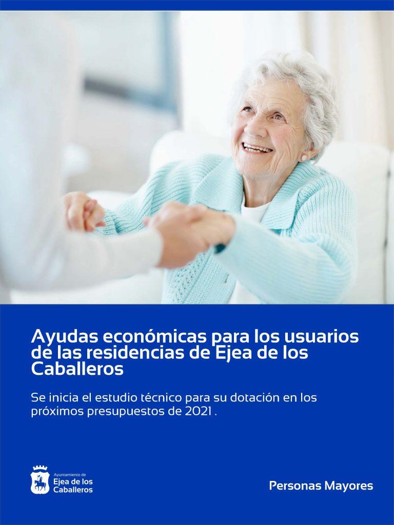 El Ayuntamiento de Ejea de los Caballeros contempla en el borrador del presupuesto 2021 ayudas económicas para los usuarios de las residencias