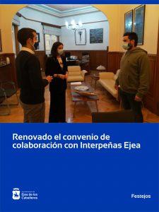 El Ayuntamiento de Ejea de los Caballeros y la Asociación Interpeñas materializan un convenio de colaboración