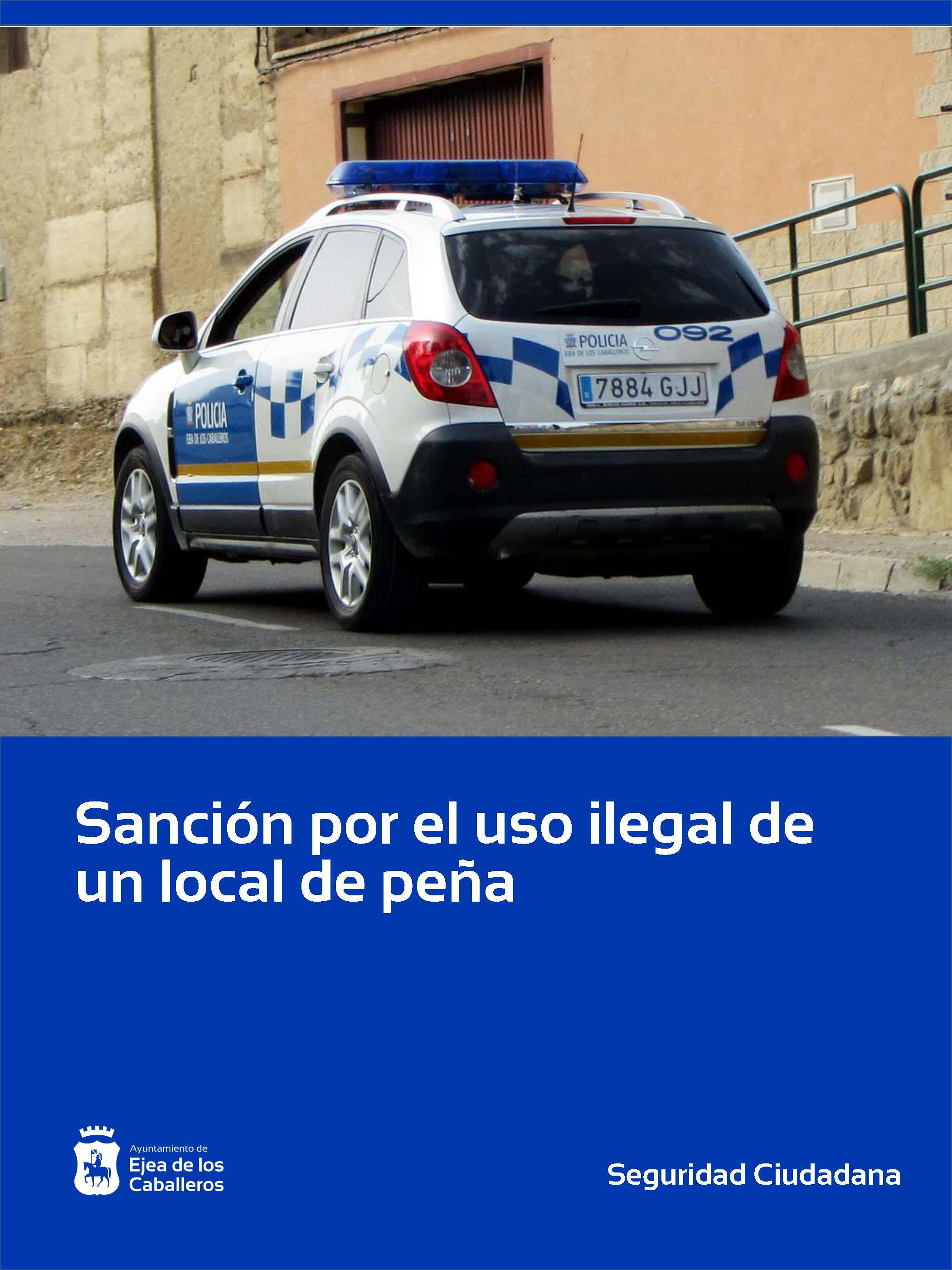 Sanción por el uso ilegal de un local de peña en Ejea de los Caballeros