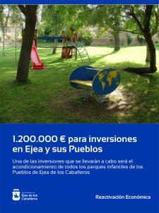 El Ayuntamiento pone en marcha inversiones en Ejea de los Caballeros y sus Pueblos por valor de 1.200.000 euros hasta final de año