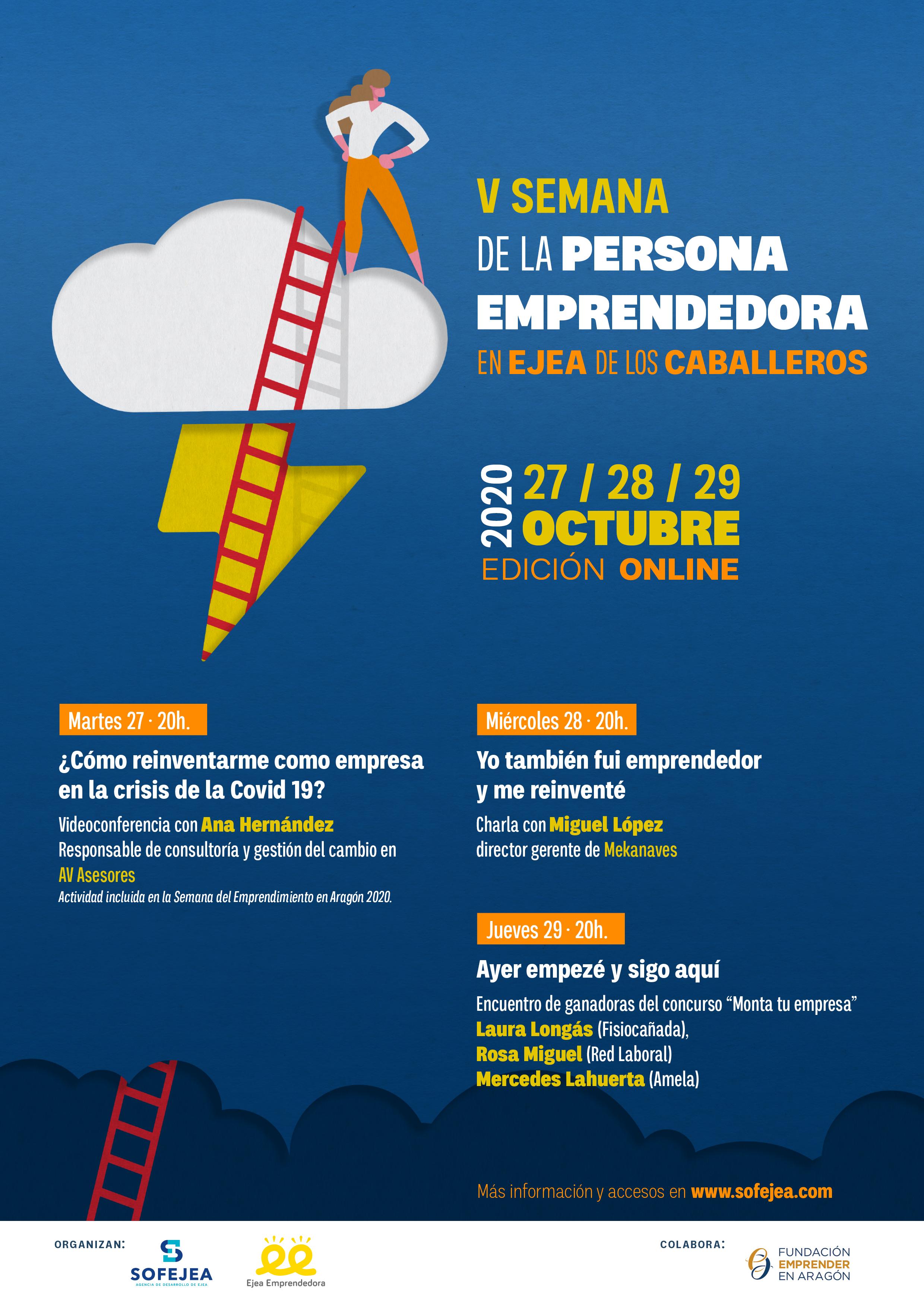La V Semana de la Persona Emprendedora de Ejea se dedica a hablar de la capacidad de reinvención