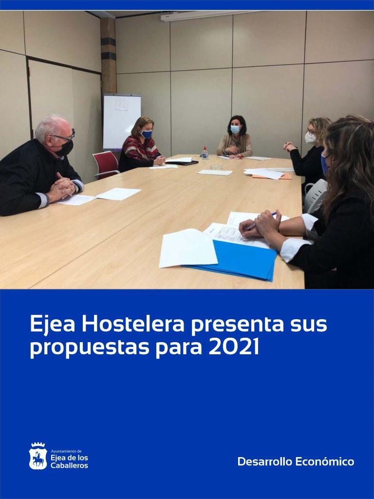 La asociación Ejea Hostelera presenta al Ayuntamiento de Ejea de los Caballeros sus propuestas para apoyar al sector en el año 2021