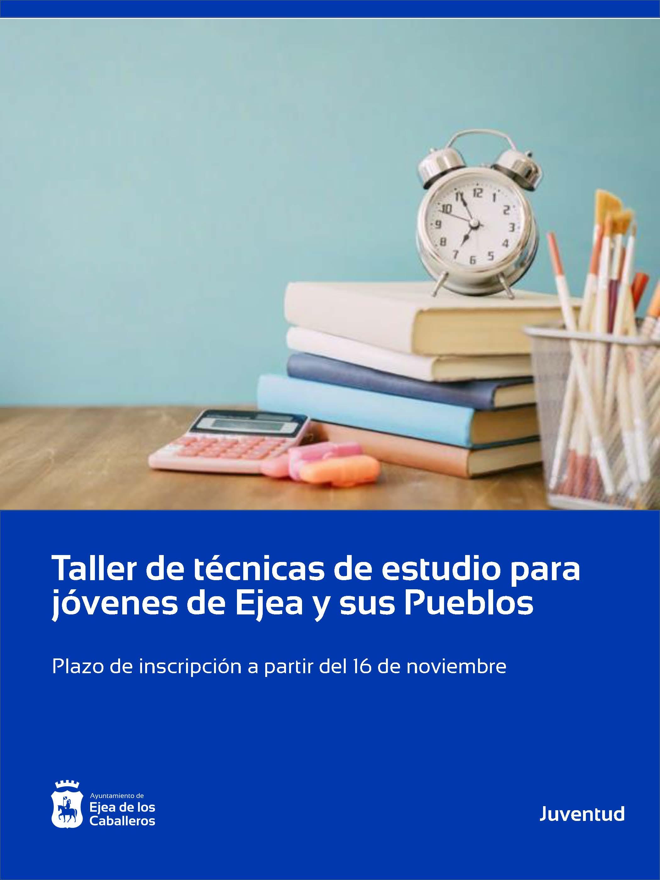 En marcha un taller de técnicas de estudio para jóvenes de Ejea y sus Pueblos