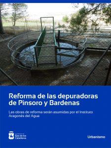 Reforma de las depuradoras de Pinsoro y Bardenas