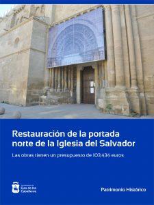 Lee más sobre el artículo Restauración de la portada norte de la Iglesia del Salvador de Ejea de los Caballeros