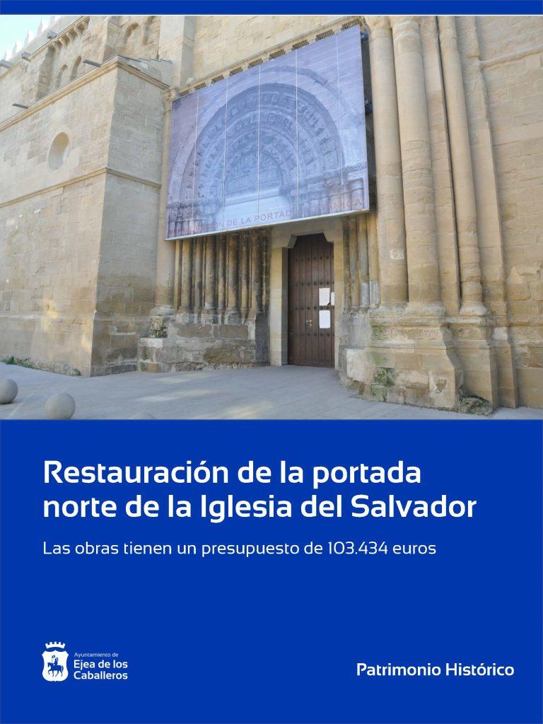 Restauración de la portada norte de la Iglesia del Salvador de Ejea de los Caballeros
