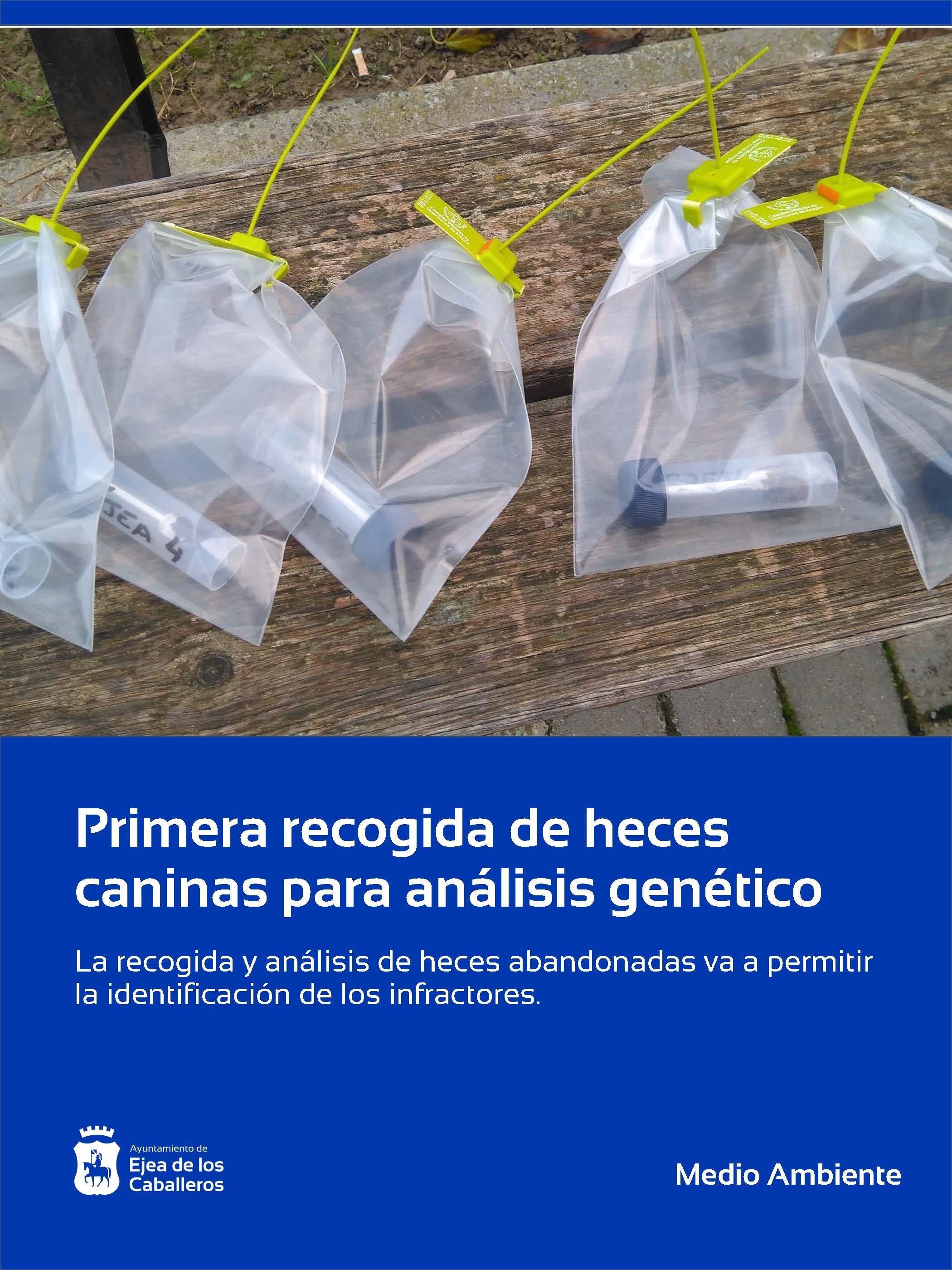 El Ayuntamiento de Ejea de los Caballeros realiza la primera recogida de heces caninas para análisis genético de Aragón