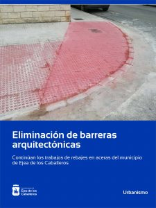 Lee más sobre el artículo Continúan los trabajos de eliminación de barreras arquitectónicas en la zona del ensanche de Ejea de los Caballeros