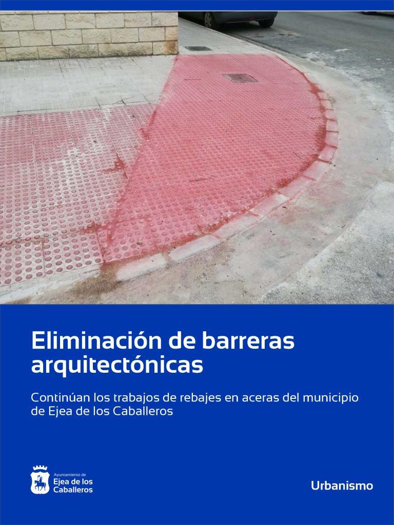 Continúan los trabajos de eliminación de barreras arquitectónicas en la zona del ensanche de Ejea de los Caballeros