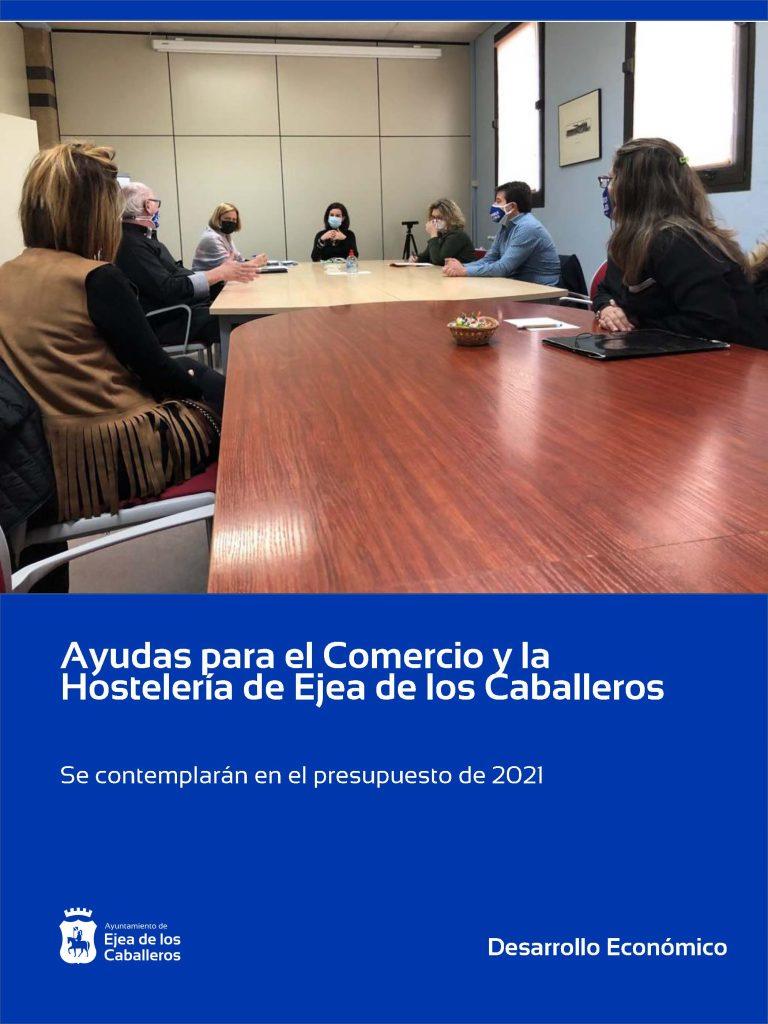 El Ayuntamiento de Ejea de los Caballeros contemplará ayudas económicas para hostelería y comercio en el presupuesto del año 2021