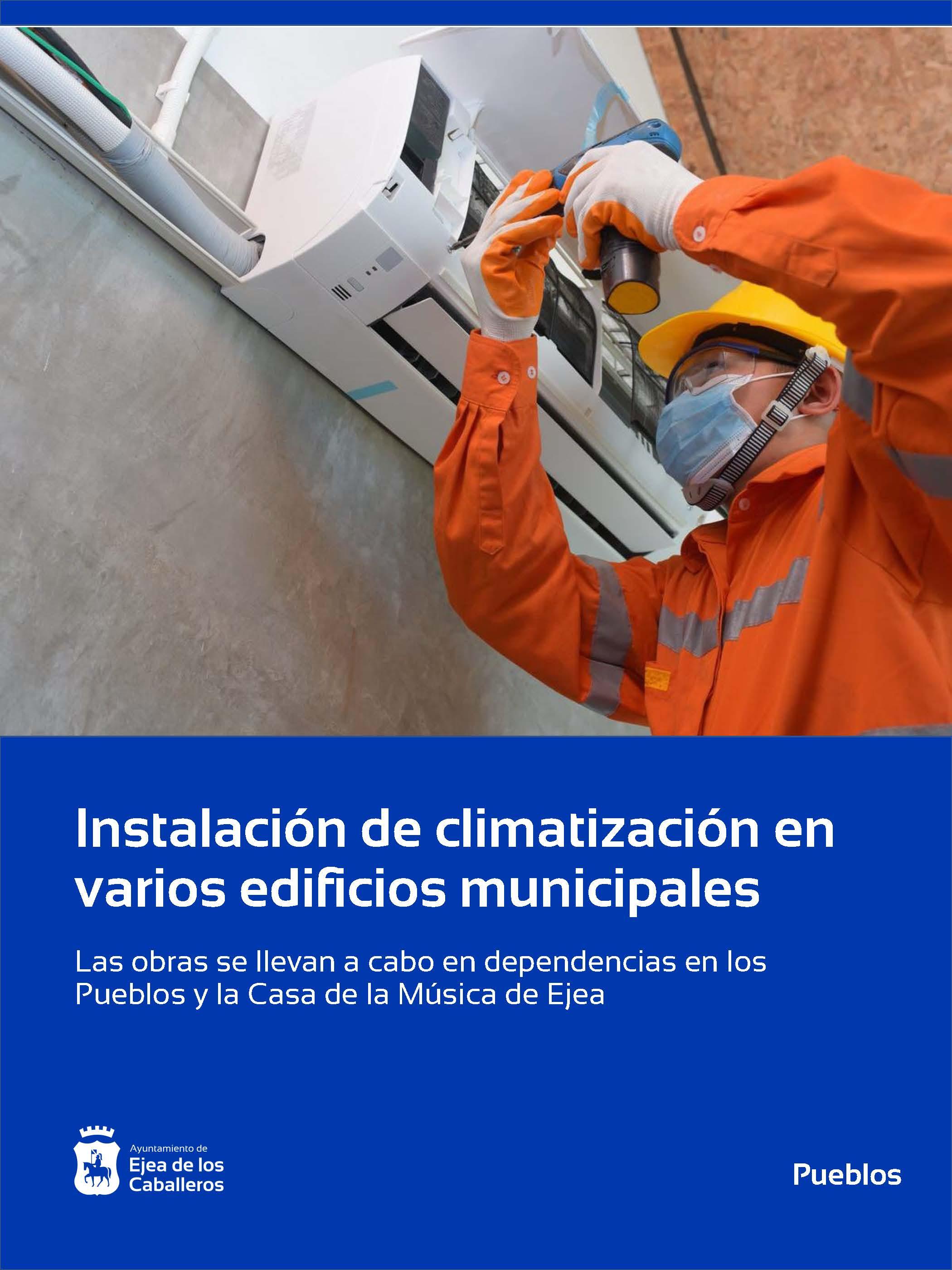 En este momento estás viendo Renovación de climatización en varios edificios municipales de Ejea de los Caballeros y Pueblos