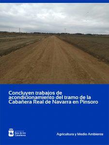 Concluyen las obras de acondicionamiento del tramo de vía pecuaria de la Cabañera Real de Navarra en Pinsoro