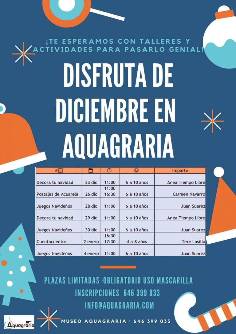 Taller «Juegos Navideños» en Aquagraria