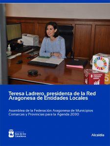 Teresa Ladrero, presidenta de la Red Aragonesa de Entidades Locales para la Agenda 2030