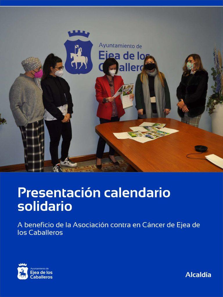 El calendario solidario para la lucha contra el cáncer ya está a la venta en Ejea