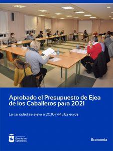 El Ayuntamiento de Ejea aprueba un presupuesto de 20.107.445,82 € para el año 2021